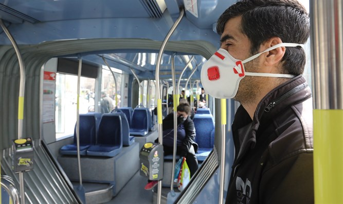 Facemasks in near-empty busses: Coronavirus
