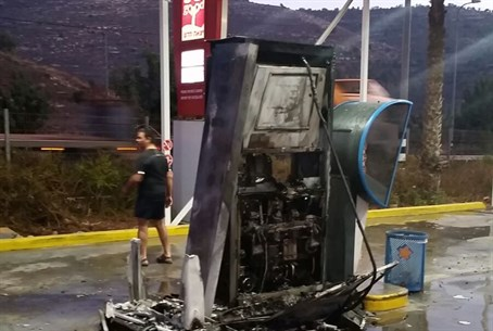Gas station which was set on fire